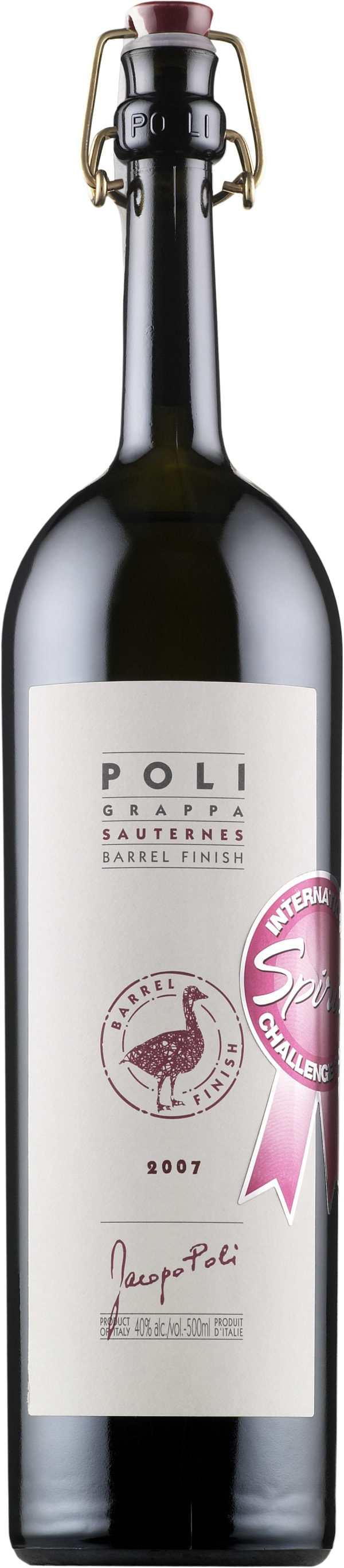 Poli Grappa Sauternes Barrel Finish
