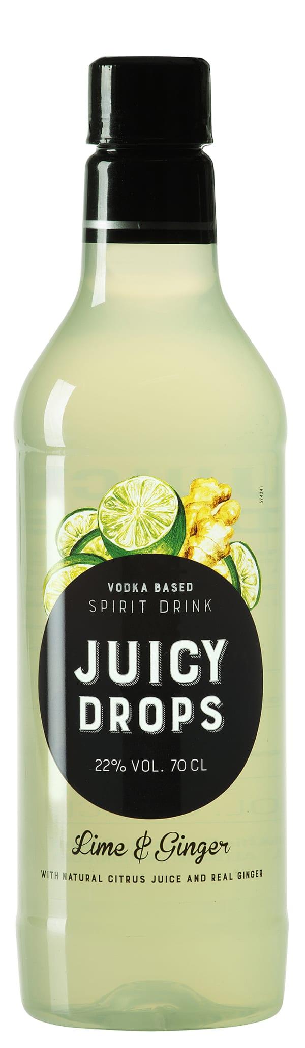 Juicy Drops Lime Ginger plastic bottle