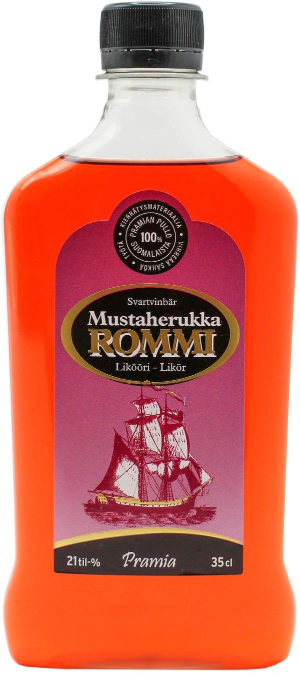 Pramia Mustaherukka Rommi Likööri  plastic bottle