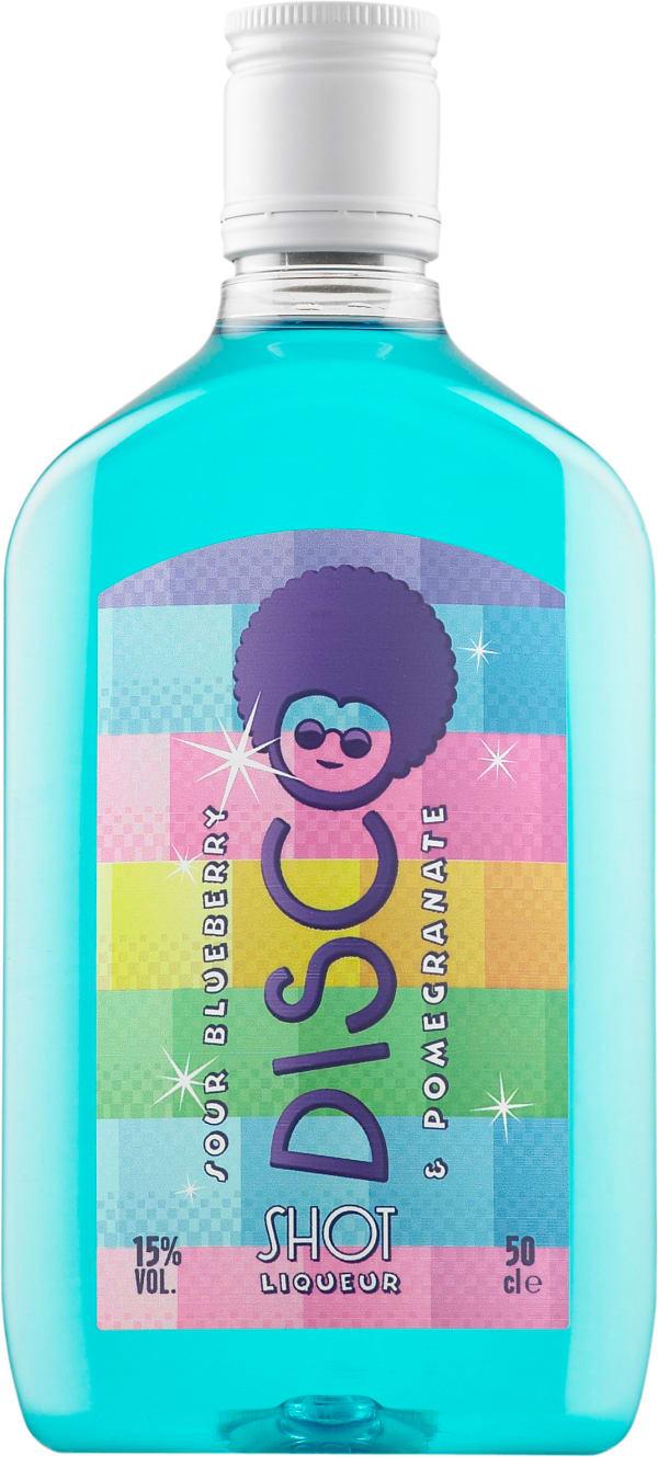 Disco Shot Sour Blueberry & Pomegranate plastic bottle