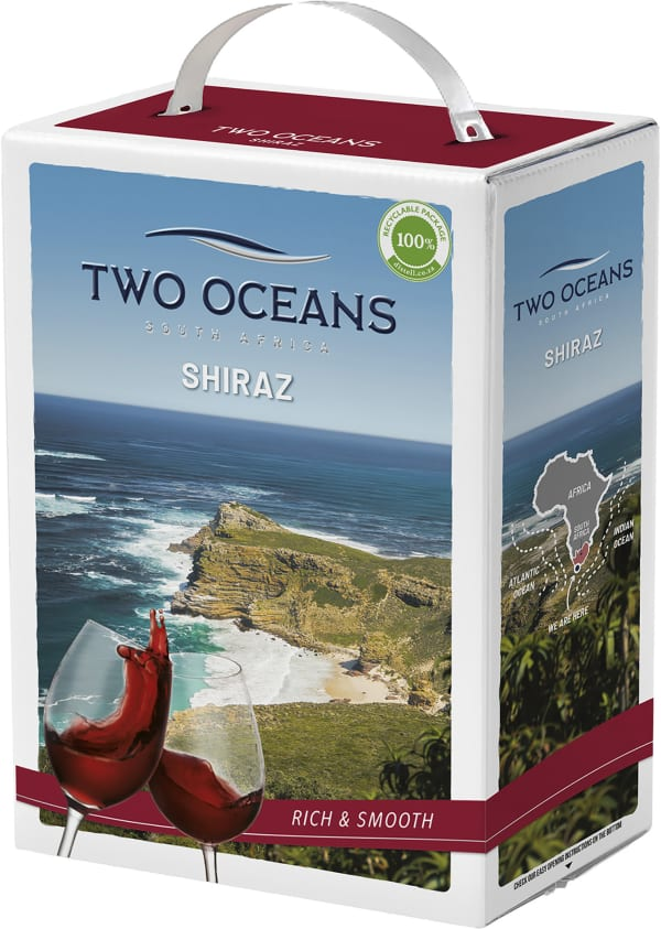 Two Oceans Shiraz 2016 bag-in-box