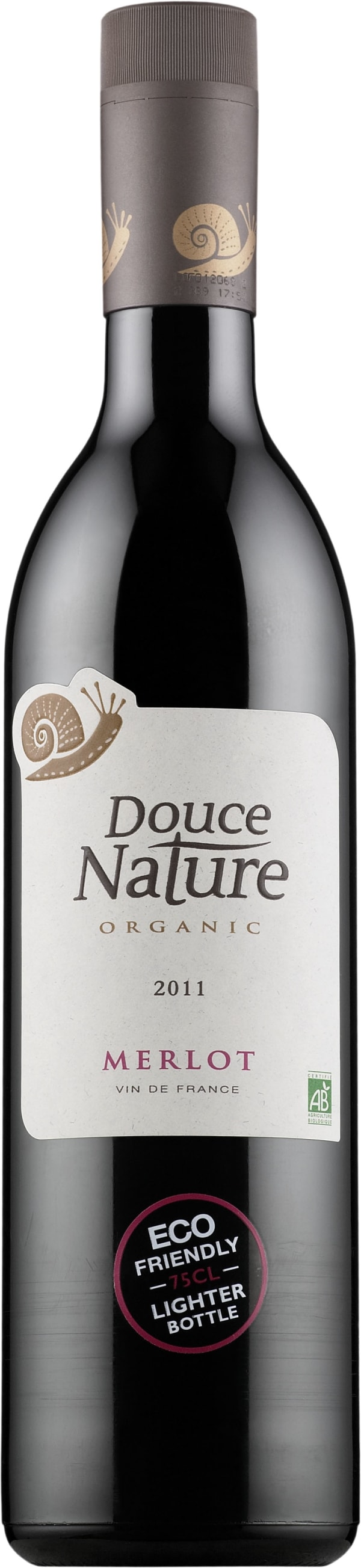 Douce Nature Organic Merlot 2015 plastic bottle