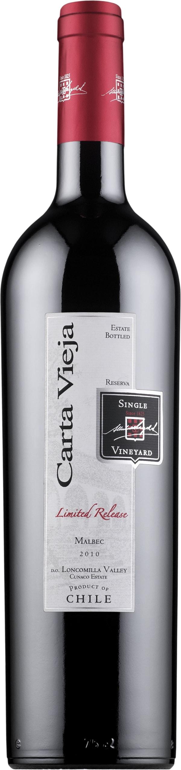 Carta Vieja Limited Release Malbec 2013