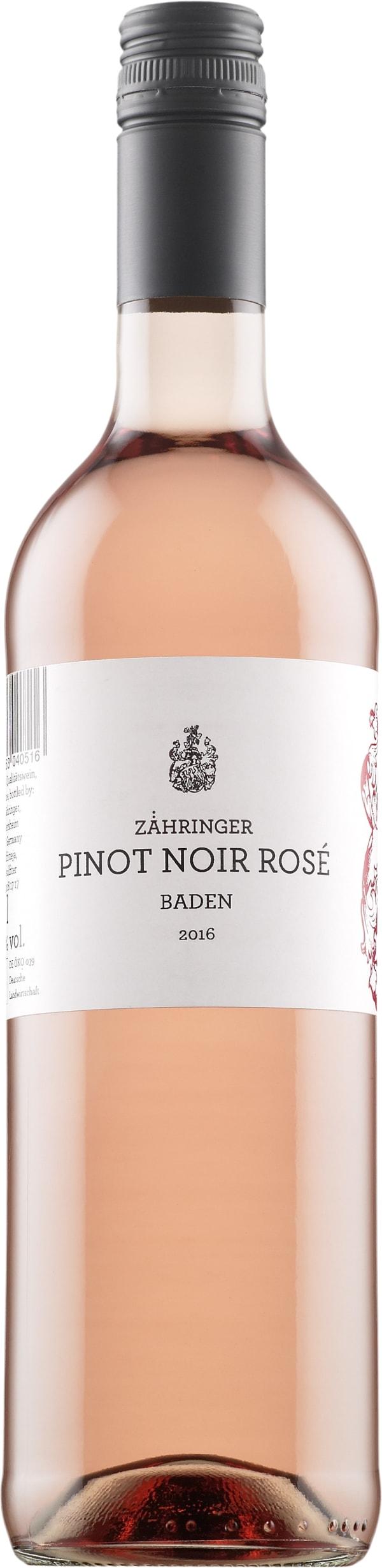 Zähringer Pinot Noir Rosé 2016
