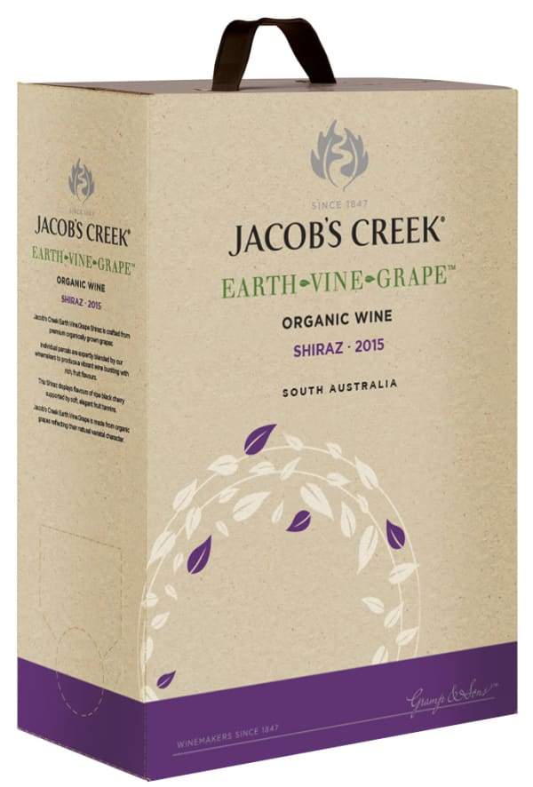 Jacob's Creek Earth Vine Grape Shiraz 2016 hanapakkaus