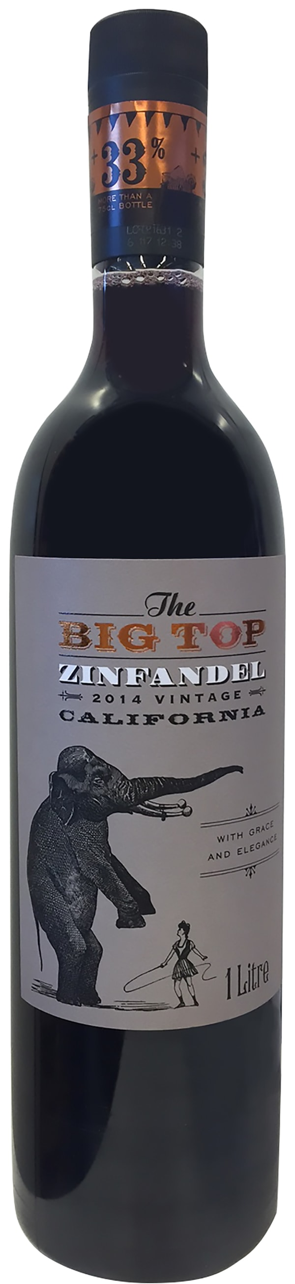 The Big Top Zinfandel 2015 plastic bottle