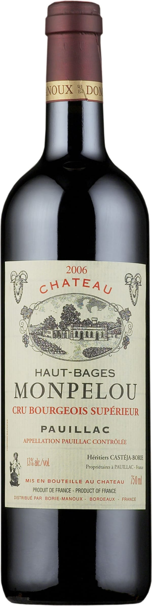 Château Haut-Bages Monpelou 2012