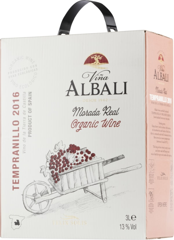 Viña Albali Morada Real Tempranillo Organic 2016 bag-in-box