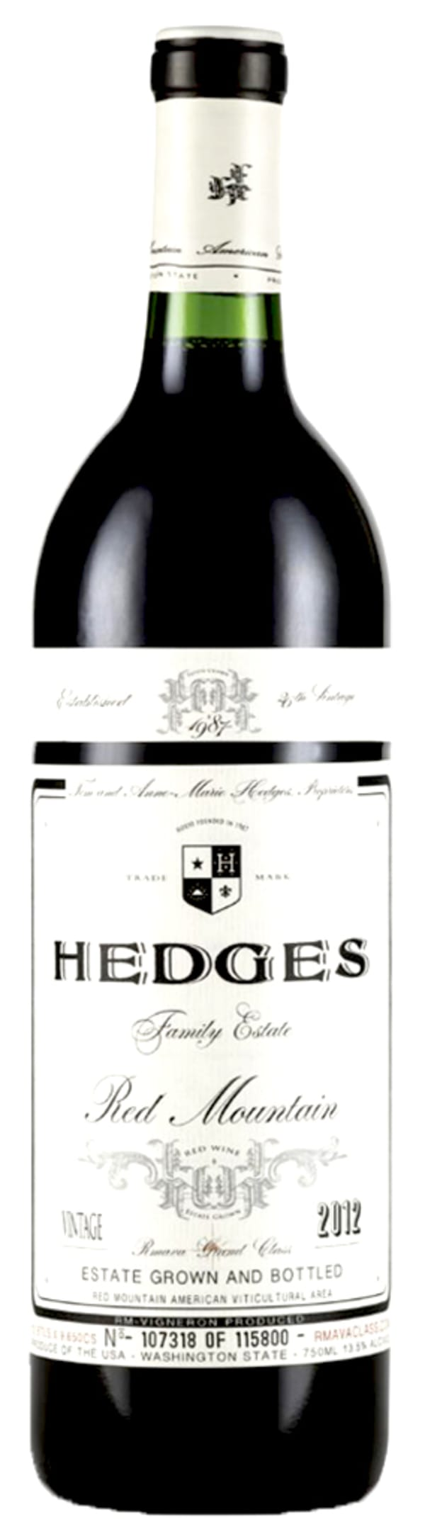 Hedges Red Mountain 2012