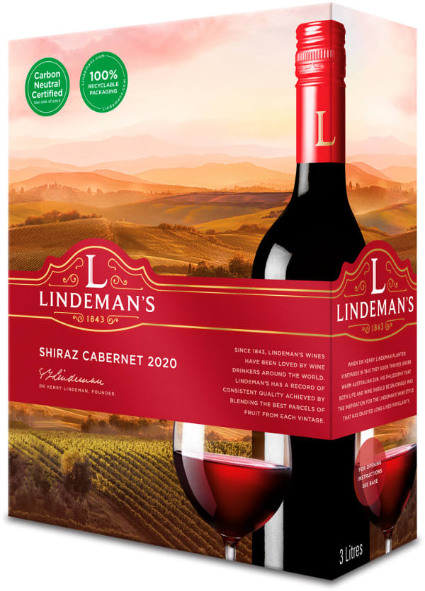 Lindeman's Shiraz Cabernet 2016 bag-in-box