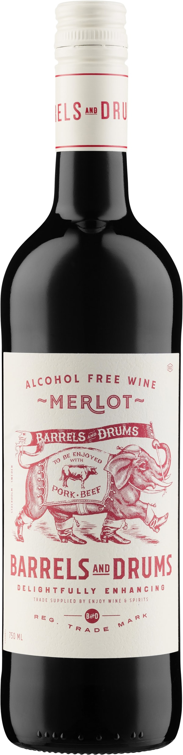 Barrels and Drums Merlot Alcohol Free