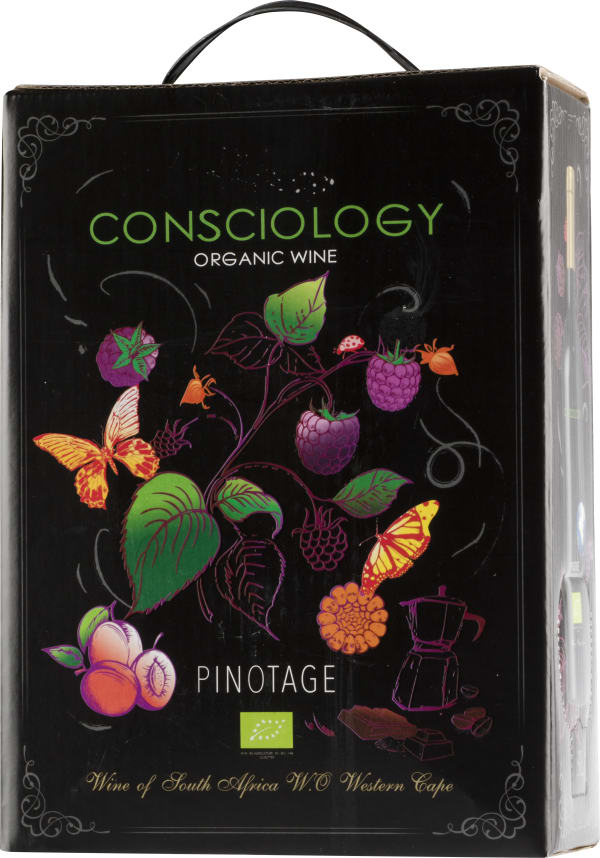 Consciology Organic Pinotage 2017 hanapakkaus