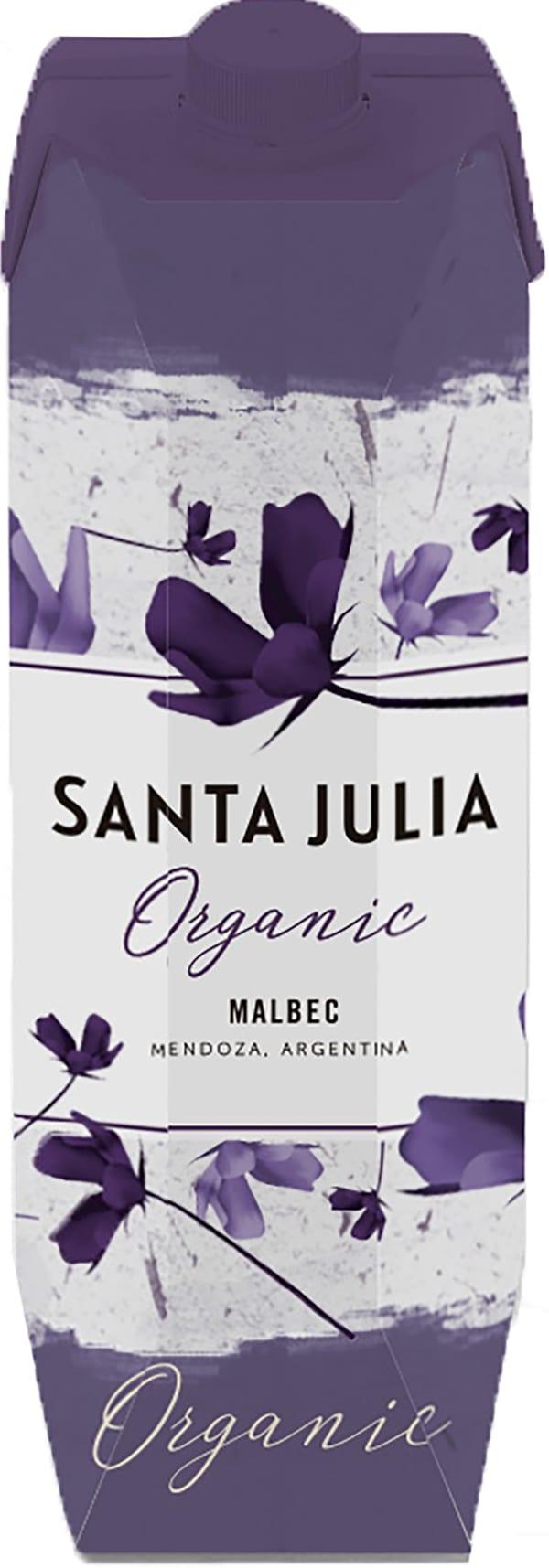 Santa Julia Organic Malbec 2016 kartonkitölkki