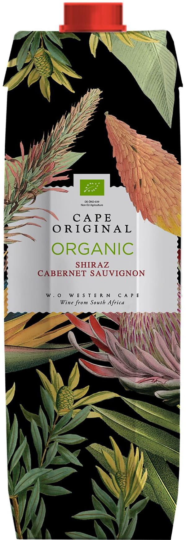 Cape Original Shiraz Cabernet Sauvignon Organic 2016 kartongförpackning
