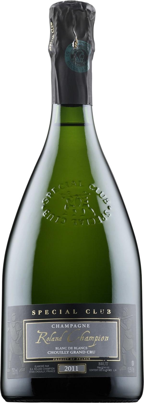 Roland Champion Special Club Blanc de Blancs Grand Cru Chouilly Champagne Brut 2011