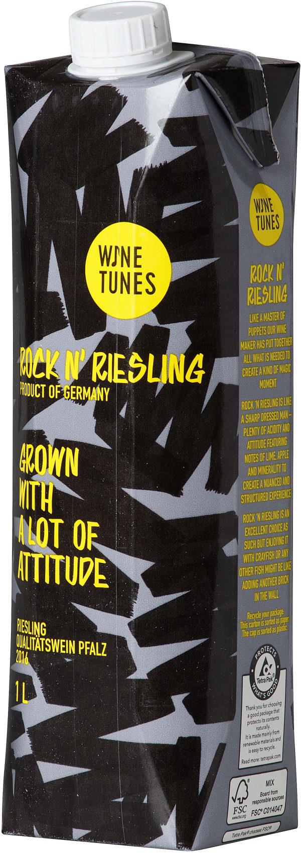 Wine Tunes Rock'n Riesling 2016 kartongförpackning