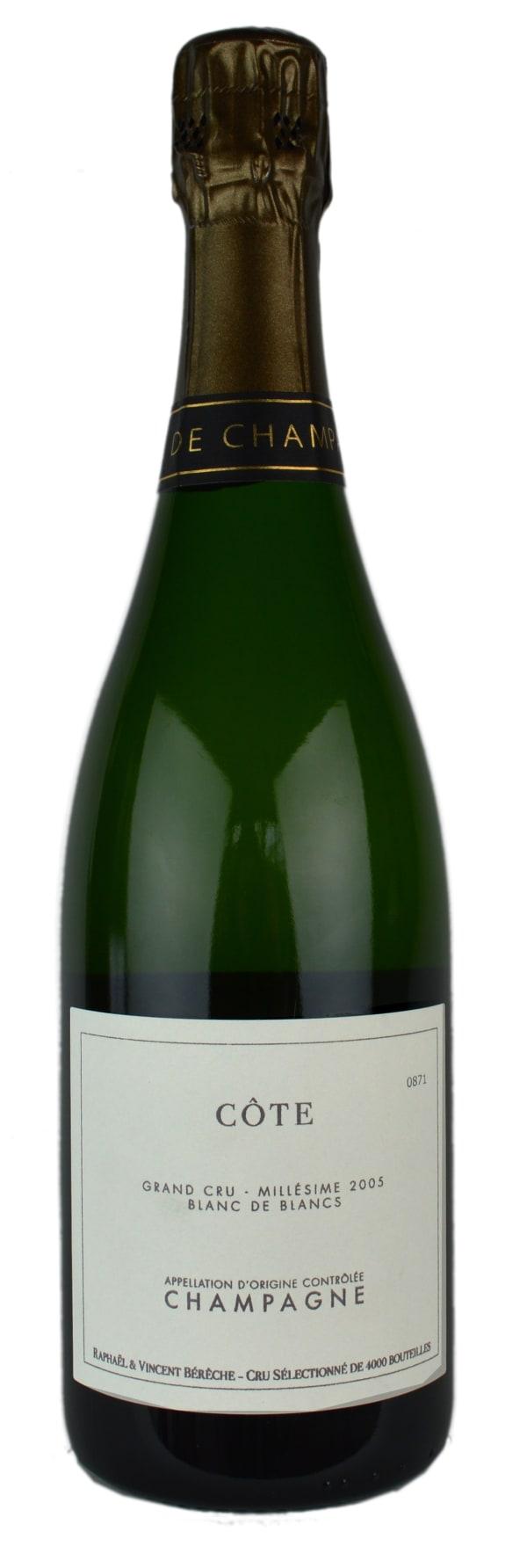 Bérèche Côte Avize Grand Cru Blanc de Blancs Millésime Champagne Extra Brut 2005