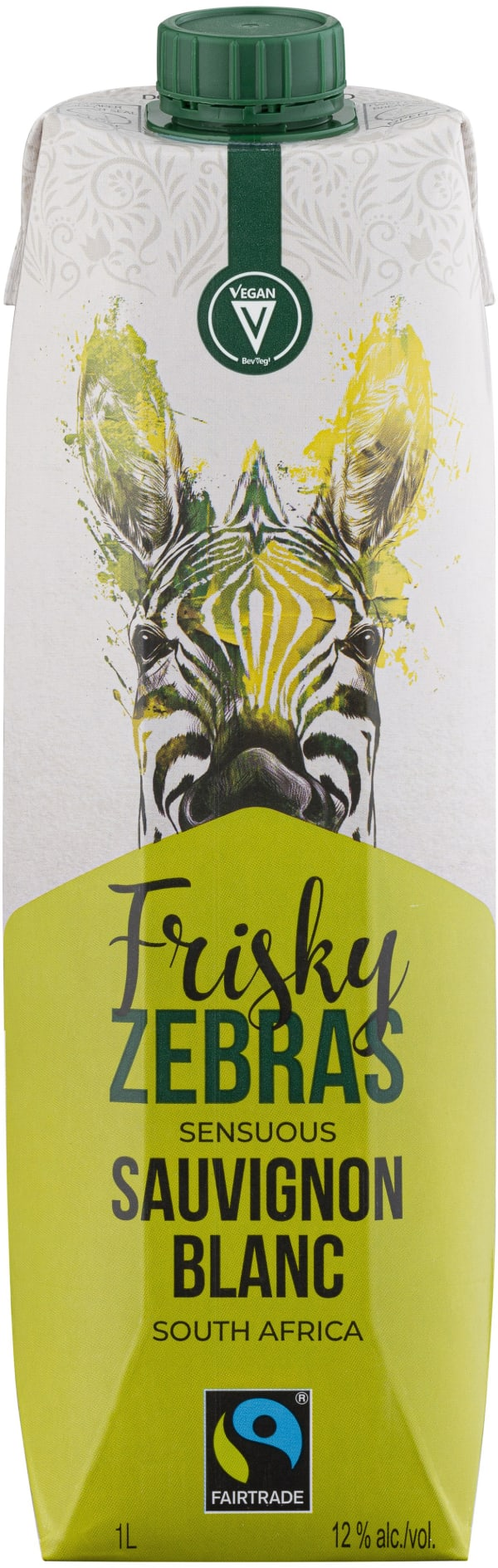 Frisky Zebras Sensuous Sauvignon Blanc  carton package
