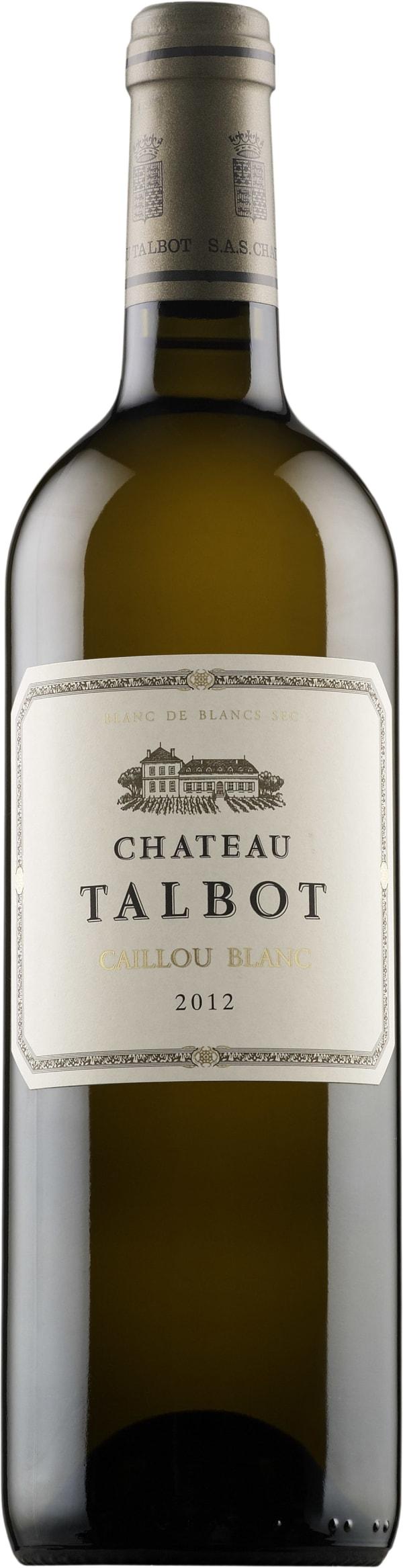 Château Talbot Caillou Blanc 2012