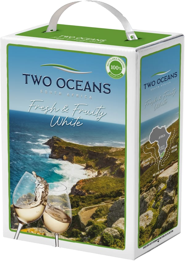 Two Oceans Fresh & Fruity White 2017 lådvin