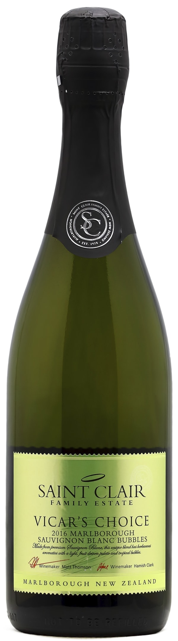 Saint Clair Vicar's Choice Sauvignon Blanc Bubbles Brut 2015