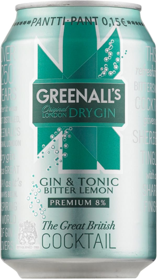 Greenall's London Dry Gin & Tonic Bitter Lemon  can