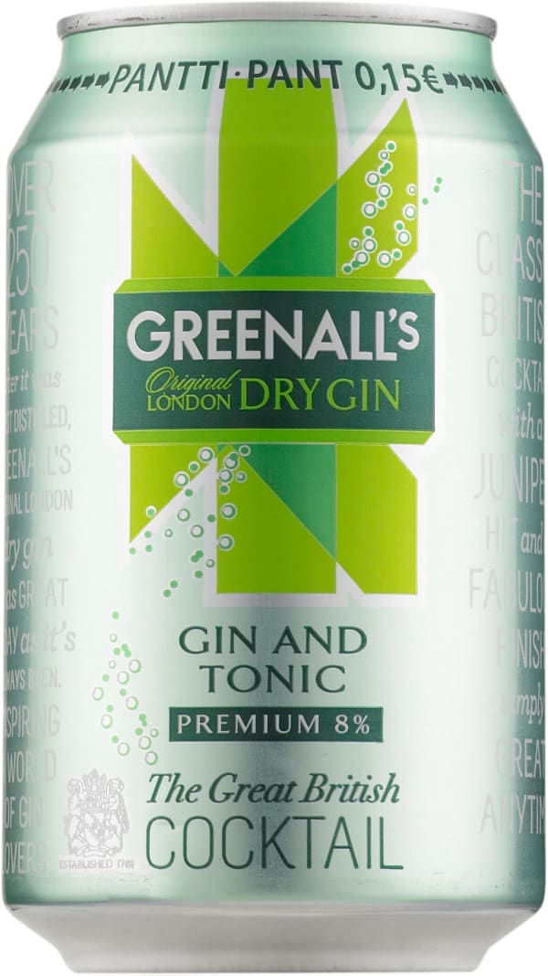 Greenall's London Dry Gin & Tonic can