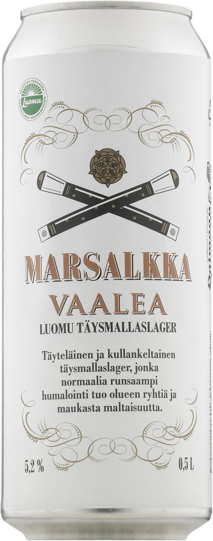 Marsalkka Vaalea Luomu can
