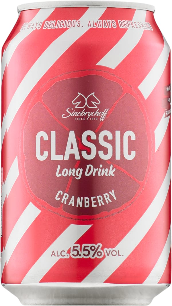Sinebrychoff Cranberry Long Drink  tölkki