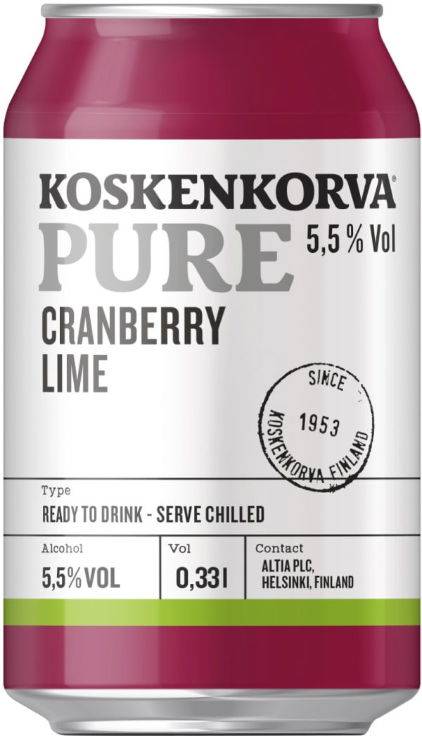 Koskenkorva Pure Cranberry  can