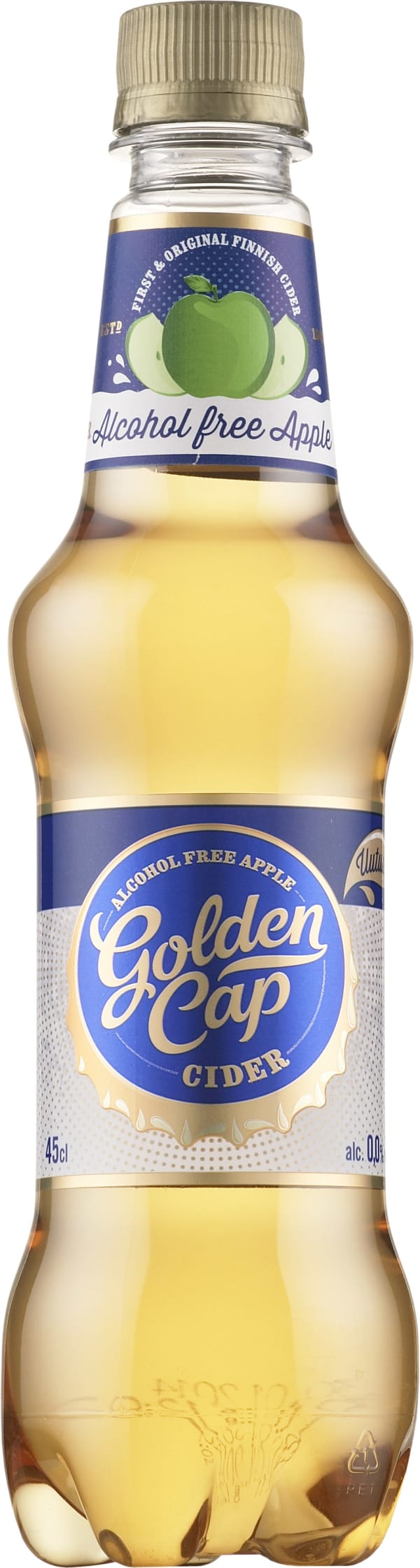 Golden Cap Alcohol Free Apple Cider  plastflaska