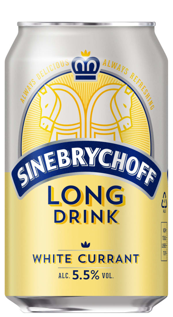 Sinebrychoff Long Drink White Currant can
