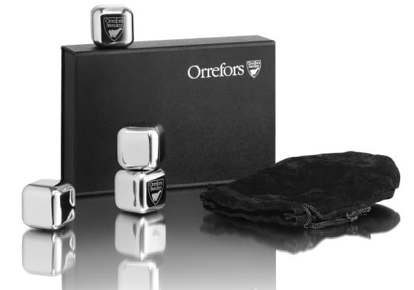 Orrefors City Steel Ice Cubes, 4 pcs