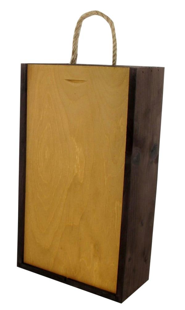2-bottle wooden gift box