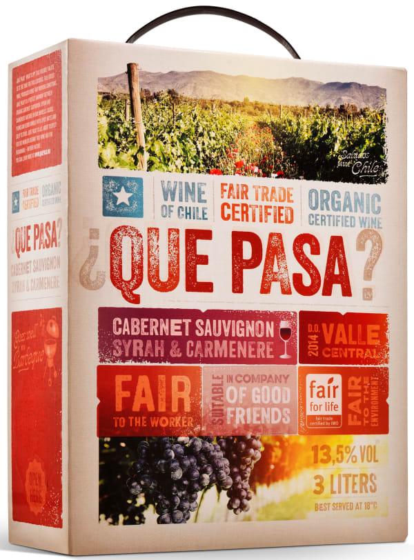 ¿Que Pasa? Organic Cabernet Sauvignon Syrah Carmenere  2015 lådvin