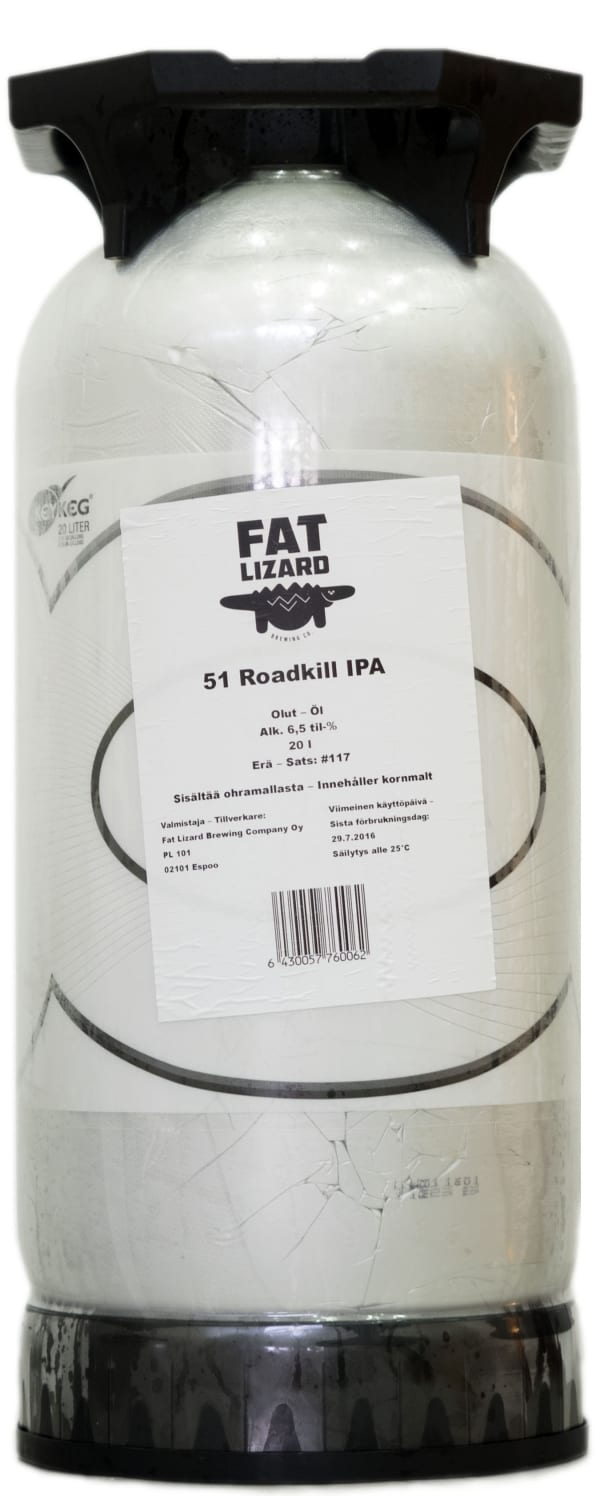 Fat Lizard 51 Roadkill IPA  fat