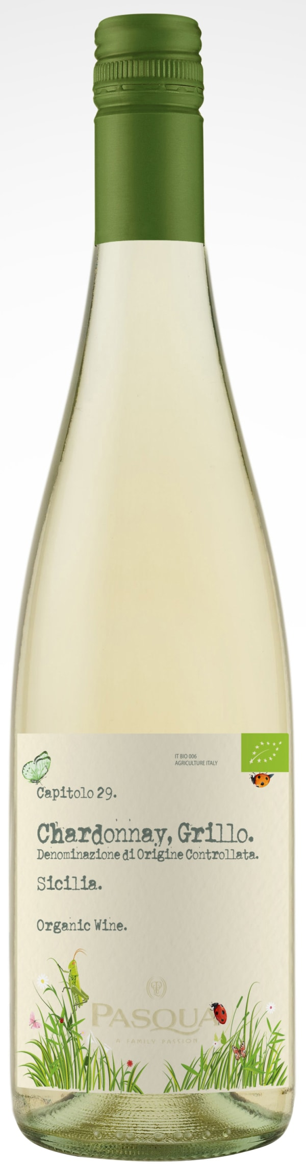Pasqua Chardonnay Grillo Organic 2015