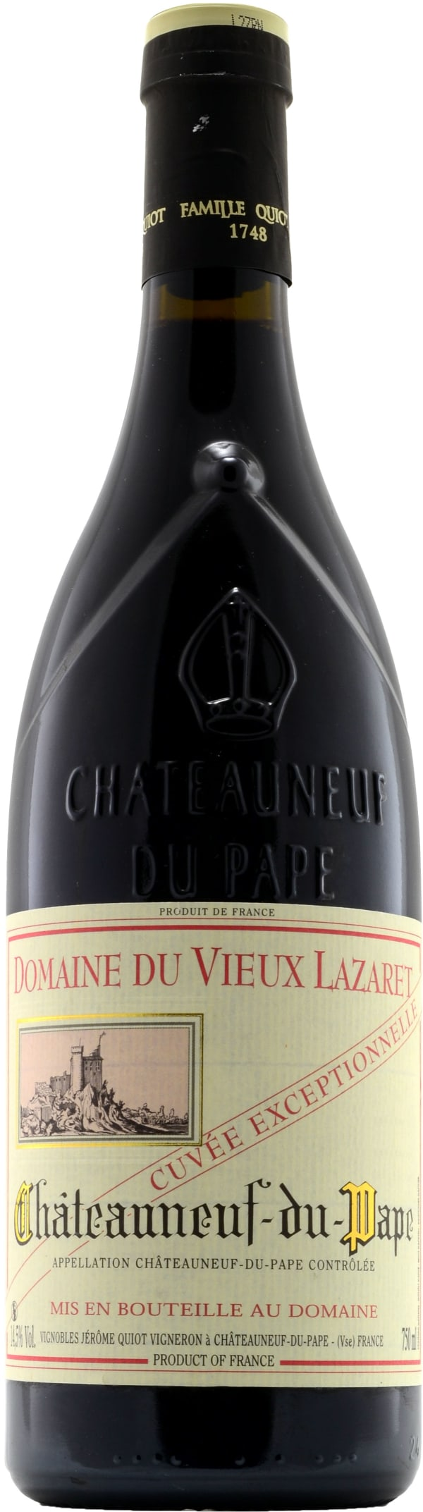 Domaine du Vieux Lazaret Châteauneuf-du-Pape Cuvée Exceptionelle 2013