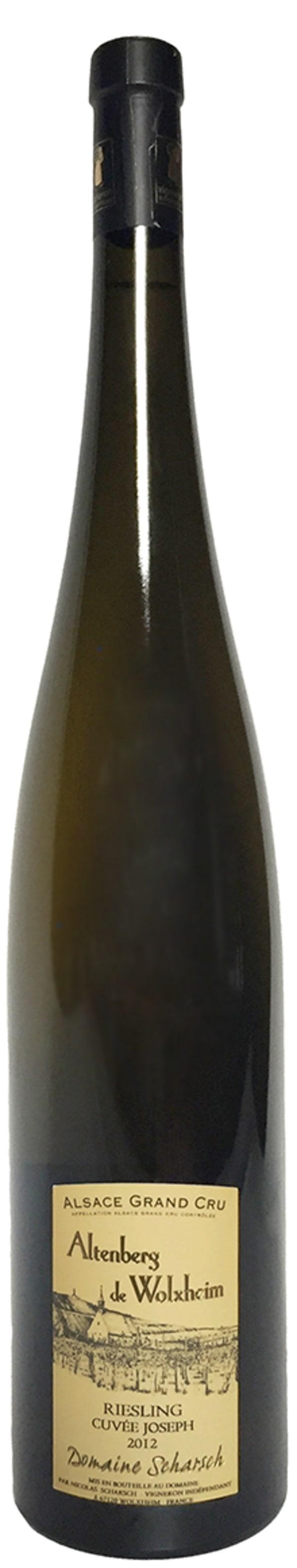 Joseph Scharsch Altenberg de Wolxheim Crand Cru Riesling Cuvée 2012